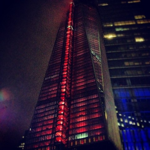 1WTC lit with red lights