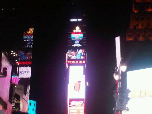 NASA broadcast on the Times Square screen