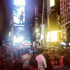 Crowd in Times Square