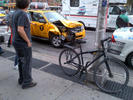 Crash involved the Hummer, a taxi, and an MTA bus