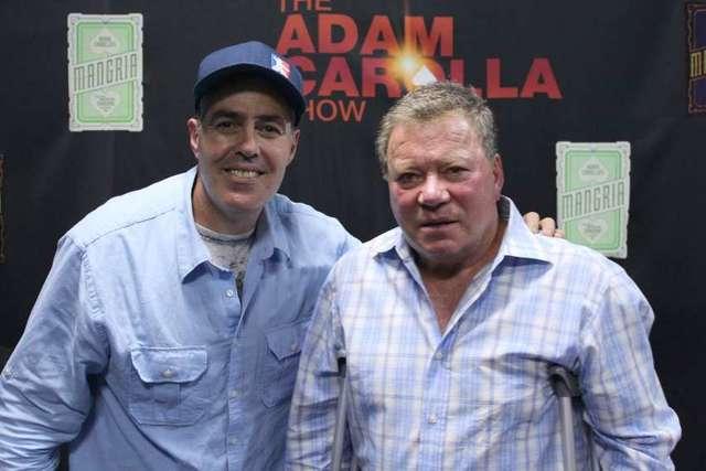 Adam Carolla and William Shatner