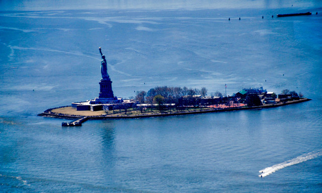 Statue of Liberty seen from One World Trade