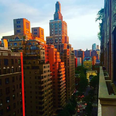 Sunset down Fifth Avenue