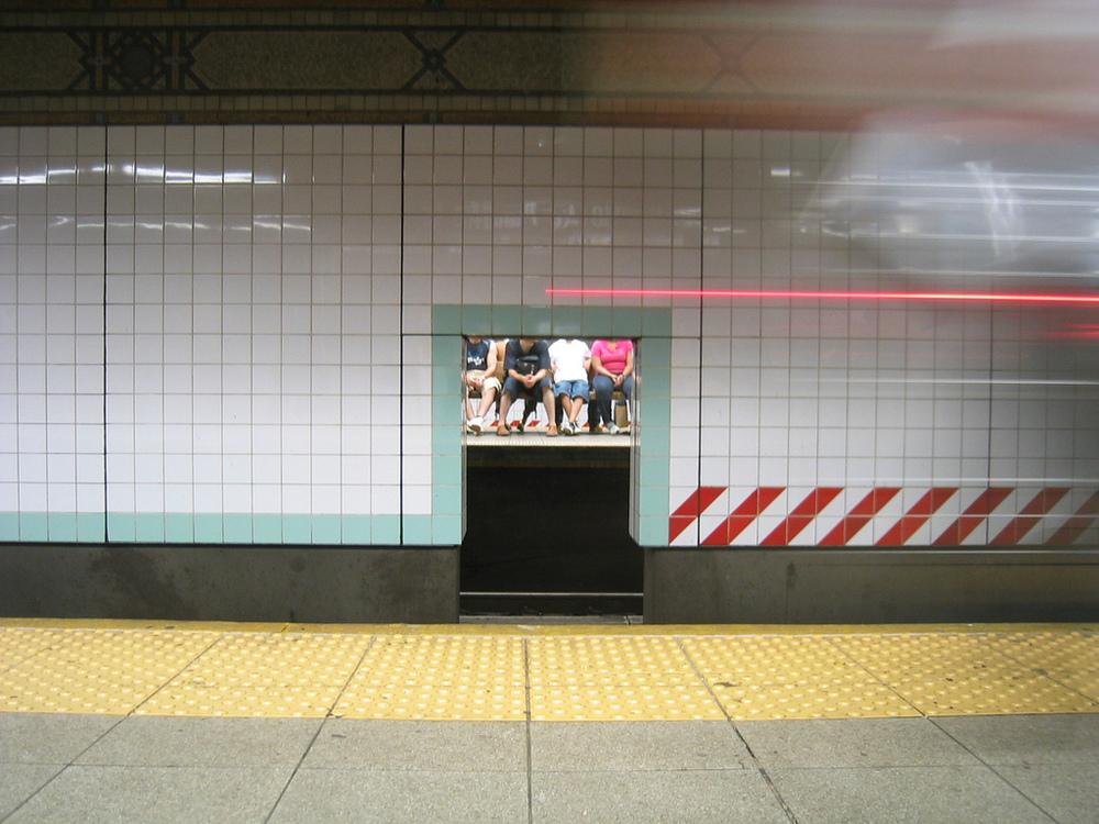 subway platform waiting