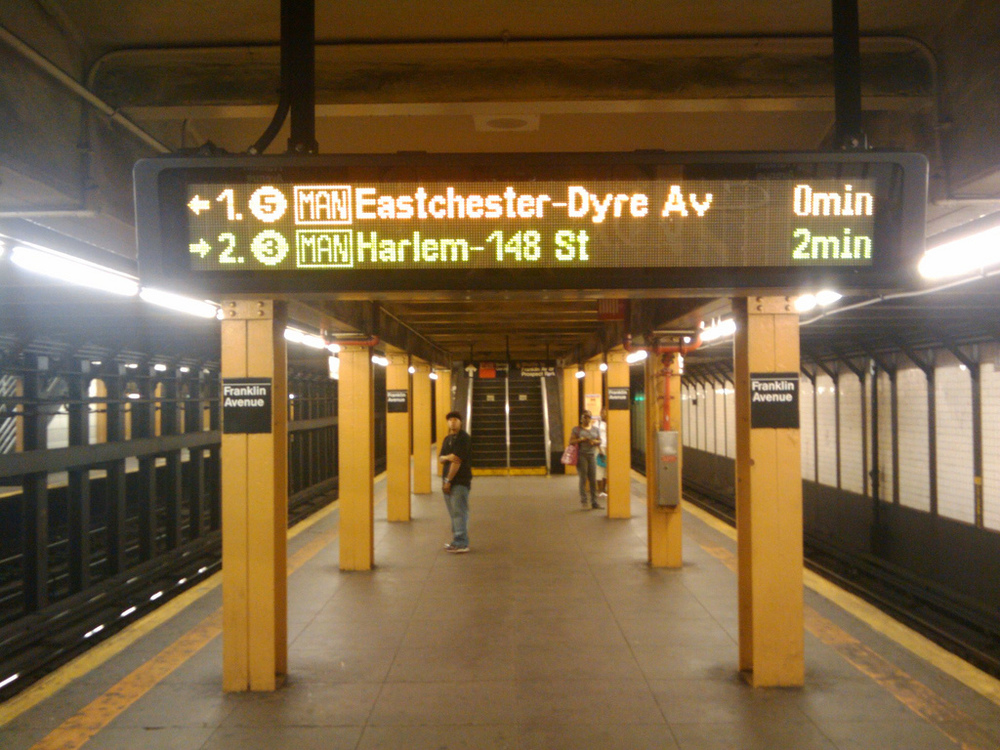 Countdown Displays at Franklin Ave