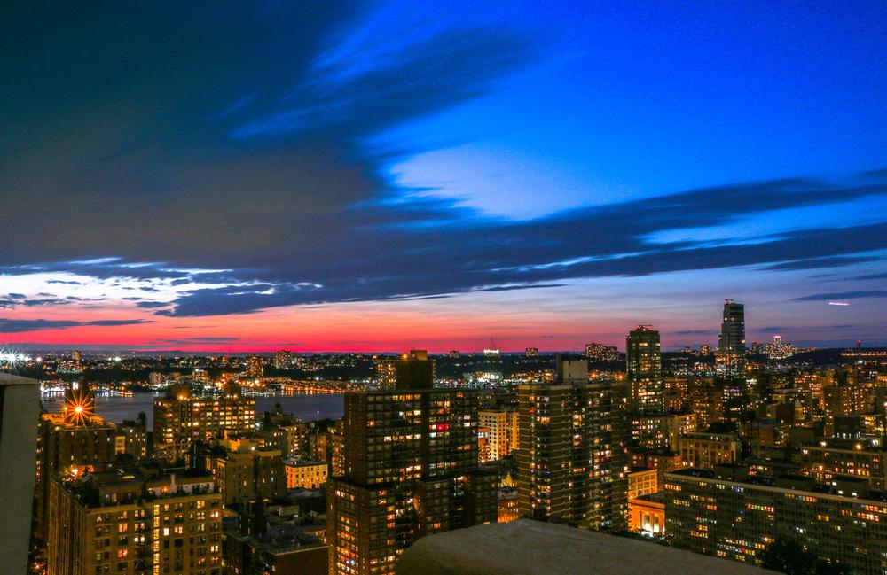 Sunset over the Upper West Side
