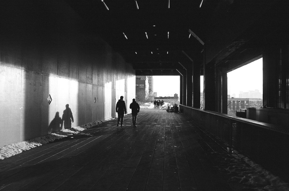 Walkers on The Highline, New York