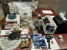 Illicit materials confiscated