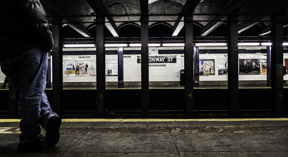 Subway Waiting. OFF Center.